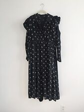 Antique Mourning Calico Wrapper Dress 1900's Edwardian Cotton Late 1800's