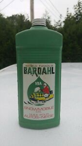 Vintage BARDAHL SNOWMOBILE Oil 1 Quart Plastic Can