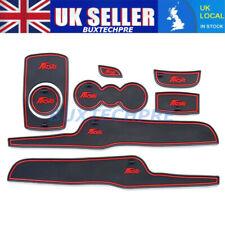 For Ford Fiesta MK VI 2008-14 Gate slot mats Accessories 3D Rubber Mat 8pcs Red