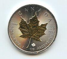 2015 Canada $5 Silver Maple Leaf Gold Gilded