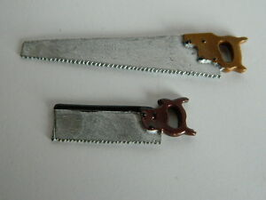 (M5.26) 1/12th scale DOLLS HOUSE TWO HAND SAWS