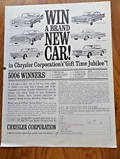 1961 Chrysler Newport Imperial Dart Lancer Plymouth Valiant Ad