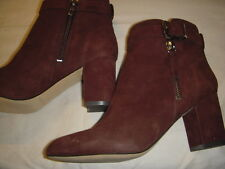 Marc Fisher Wynie Suede Leather Buckle Detail Ankle Boots Womens 5 M Brown ~