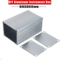 Aluminium Instrument Box Elektronisches Kleingehäuse Gehäuse grau 80x50x40mm