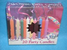 "Angel Chime Party Candles, 1/2"" Diameter x 4"" Tall, 20 in New Box, Brown"