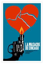 "Movie Poster 4 film""Masacre de CHICAGO""Capone.Home room interior design art."