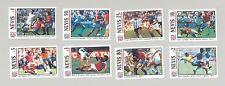 Nevis 1994 Soccer 8v Imperf Proofs