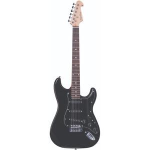 Spectrum Full Size 6 Strings Electric Guitar w/  Mini Amplifier, Maple & Walnut