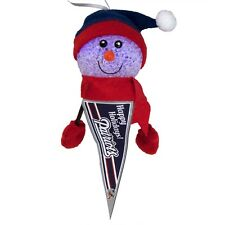 New England Patriots - Light-Up Snowman Pennant Christmas Ornament
