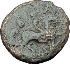 Antigonos II Gonatas RARE R1 Macedonia Ancient Greek coin HERCULES HORSE i61705