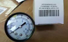 "Air Compressor Pressure/Hydraulic Gauge 2"" Face Back Mnt ss 1/8"" NPT 0-160 PSI"
