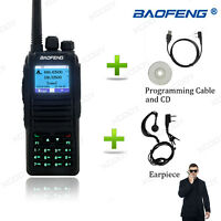 Baofeng DM-1701 DMR Tier II Walkie Talkie  Dual Band 5W 3000CH UHF VHF +Earpiece