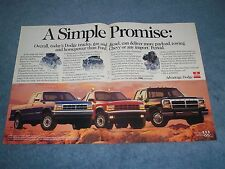 "1992 Dodge Ram Cummins & Dakota Pickup Vintage 2pg Ad ""A Simple Promise"""