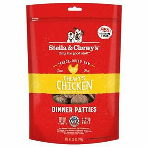 Stella and Chewy's Freeze-Dried Chewy's Chicken Dinner Patties for Dogs 25 ounce