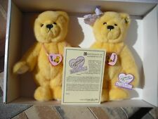 """Annette Funicello Best Friends Bears Bear Amber and Austin Poseable Arms 12"""" Nib"""