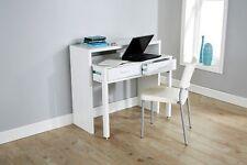 White Desk Extending Console Table Home Office Computer Storage Table Regis