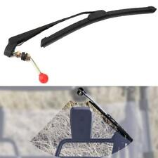 UTV Manual Hand Operated Windshield Wiper Rubber Blade Universal Replacement Kit