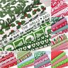 CHRISTMAS FABRIC BUNDLES FAT QUARTERS & SQUARES POLY COTTON TRADITIONAL NORDIC