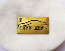 Original seltener Mercedes Benz Pin (Muster) Silhouette golden 203/209 C-Klasse