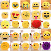 Cute 32cm Soft Emoji Smiley Emoticon Stuffed Plush Toy Doll Pillow Case Cover JB