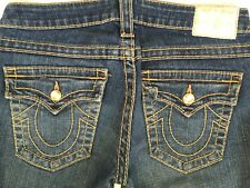 True Religion 27 x 33 Jeans Disco Joey Big T Gold Jeweled  Flared