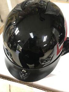 Men's Half helmet With Vents And Visor