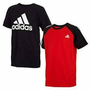 Adidas Youth Boy's Short Sleeve 2 Pack T-Shirt Set Size XL (18/20)