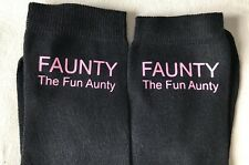 NOVELTY AUNTY SOCKS  ...The Fun Aunty.... /BIRTHDAY CHRISTMAS  GIFT