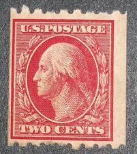 Travelstamps: US Stamps Scott # 391 2c Washington Mint OG LIGHTLY HINGED