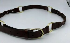Sportscraft Tan Leather Unisex Belt Size L Waist 89cm-99cm RRP $59.95