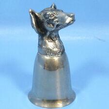 Vtg Mauro Manetti Italy Silverplate STIRRUP CUP Hunting Dog Animal Head