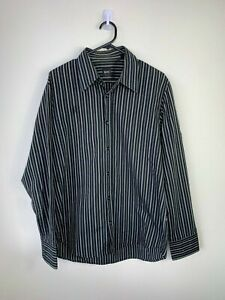 Hugo Boss Slim Fit Button Up Black Shirt - Size L