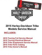 Harley Davidson 2015 Trike Tri Glide Flhtcutg Freewheeler Flrt Service Manual