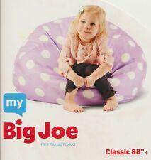 "My Big Joe Kids Lavender  White Polka Doted Floor Pillow Beanbag 28"" x 28"" x 22"""