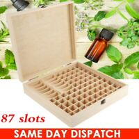 87 Slots Essential Oil Storage Box Wooden Aromatherapy Wood Container Organizer