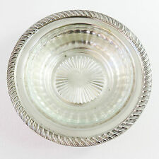 Vintage Kenson Plate Silverplate Butter Dish Bowl With Glass Insert, EPNS A1