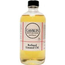 Gamblin 8 Oz Refined Linseed Oil Ang06008