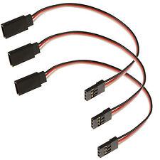 3 X Rc 150mm Servo Cable de extensión Plomo Futaba / Jr / Hitec / Sanwa
