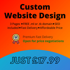 Website design service ⚫3 PAGES⚫ FREE domain ⚫ FREE hosting