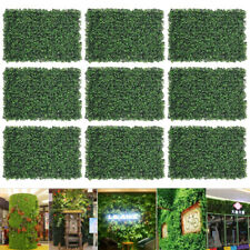 2-12PCS Artificial Ivy Leaf Hedge Mat Fence Fake Plant Grass Wall Outdoor Panels