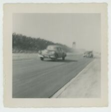 RACING IN THE STREET CARS AUTO DRAG RACE 1950 VINTAGE FOUND PHOTO SNAPSHOT