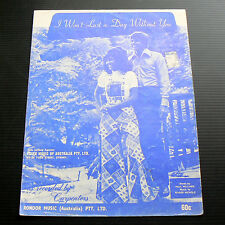 I WON'T LAST A DAY WITHOUT YOU Sheet Music The Carpenters Love Song Piano Guitar
