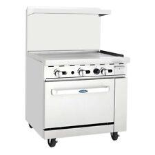 Atosa Usa Agr 36g Lp 36 Gas Restaurant Range 1 Standard Oven 1 Griddle