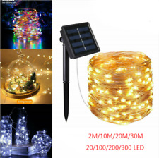 10-30M LED Solar String Lights Waterproof Copper Wire Fairy Outdoor Garden TRE