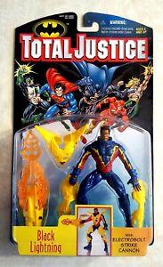 DC Total Justice Black Lightning Figure Electrobolt Strike Cannon 1996 Kenner