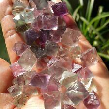 50g PURPLE Fluorite Octahedron Healing Reiki Tumbled Stone Gemstones Crystal