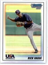 2010 Bowman Chrome USA Baseball Refractors #BC10 Rick Hague NM-MT /777