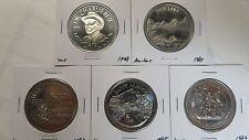 Canada Souvenir Dollar 5Pcs(Banff Canada), 1978 1981 1983 1985 1989, AU(1)UNC(4)
