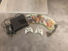 Xbox 360 S 1439 250gb HDD Console Bundle Black + 2 controllers + 6 Games