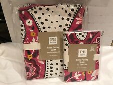 Pottery Barn/PB Teen Retro Paisley Twin Duvet & Standard Sham-Pink/Black/Yellow